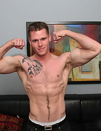 Hairy hot built fucker has big muscles and cock