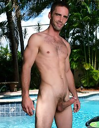 Hot hairy stud naked with a big boner