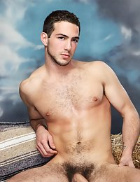 Sizzling hot hairy stud is naked and hard