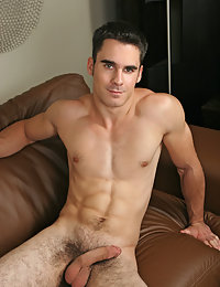 Hot college guy with hairy legs and cock