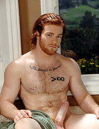Rub a dub dub, a Hot hairy redhead in a tub, a Hot hairy redhead in a tub