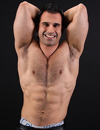 Hot hairy and handsome middle eastern guy naked