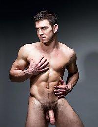 Hot hairy British jock has a big thick cock