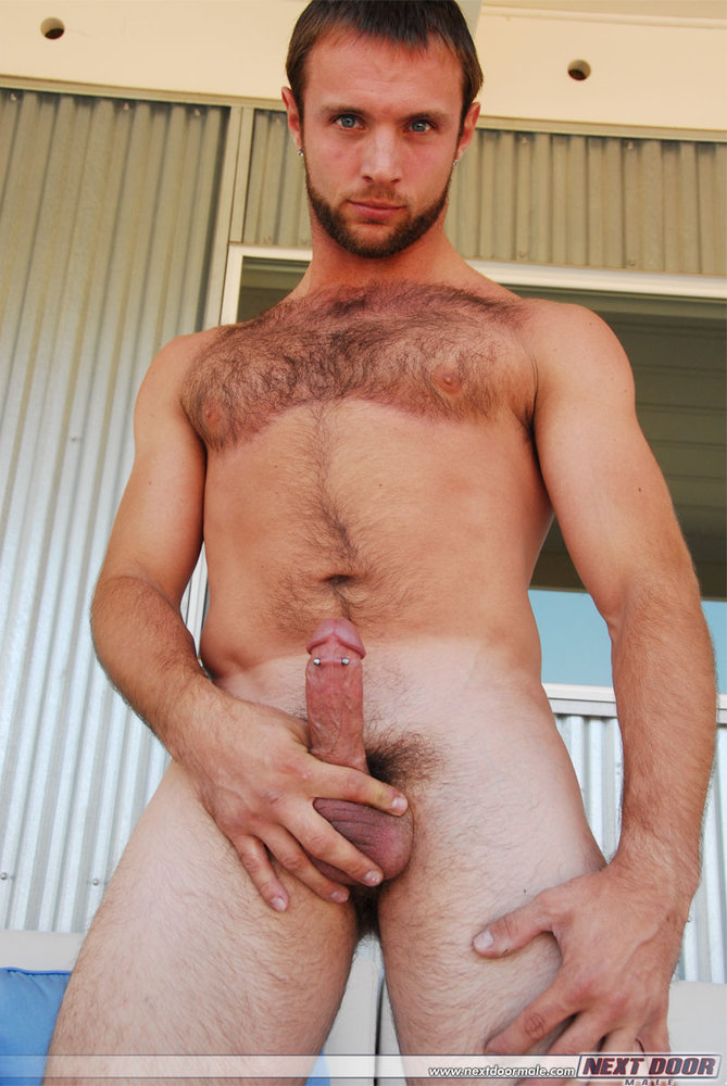 Hairy chest jock something