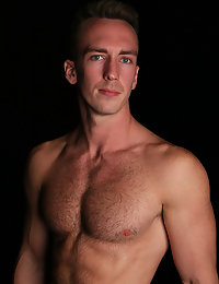 Hot hairy preppy guy shoots a load