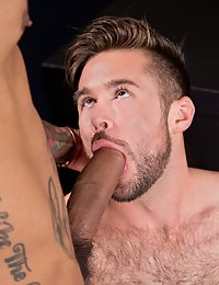Hot hairy guy with thick big fat cock