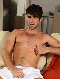 Hot hairy college stud is always horny